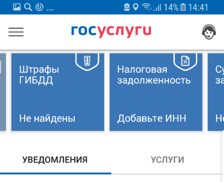 Мобильное приложение Госуслуги